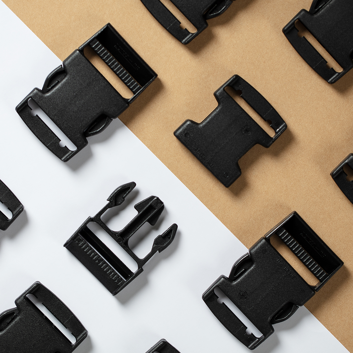Plastic buckles and other products